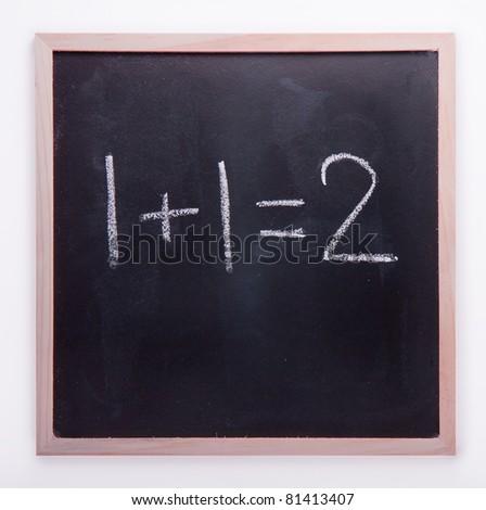 Blackboard math - stock photo