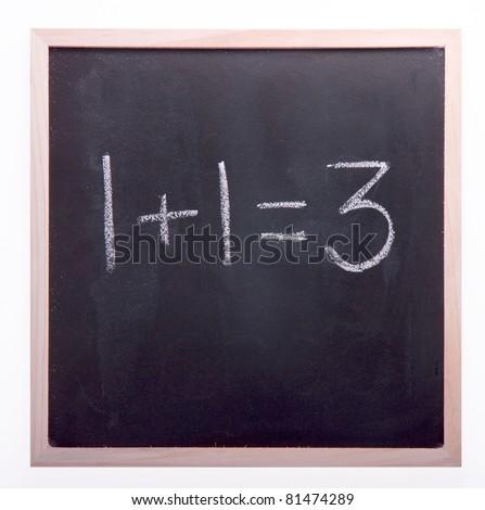 Blackboard Maths - stock photo
