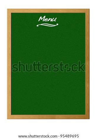 Blackboard menu. - stock photo