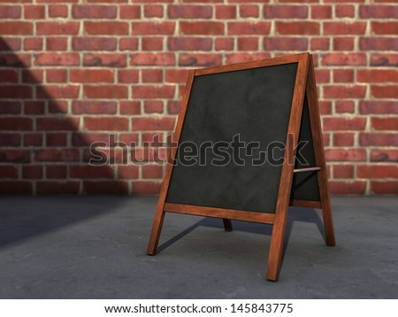 Blackboard menu on the street - stock photo
