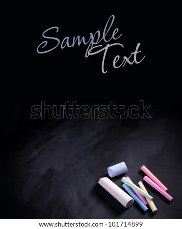 Blackboard - space for text - stock photo