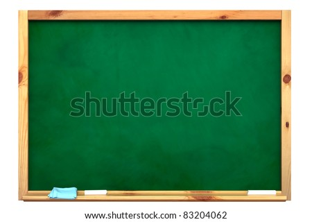 Blackboard with a chalk on a white background.