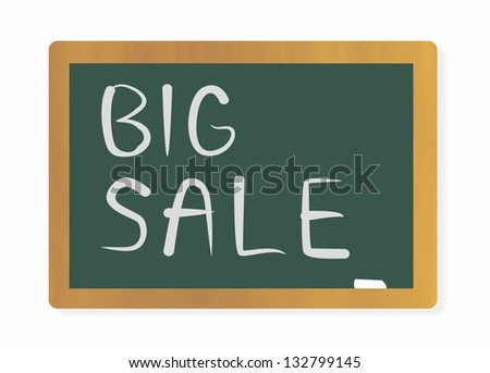 blackboard with BIG SALE Concept