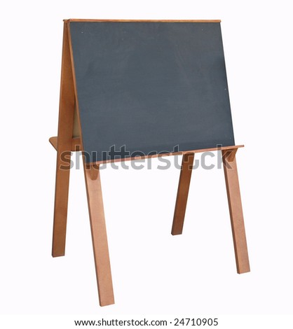 BlackBoard with Copyspace isolated with clipping path - stock photo