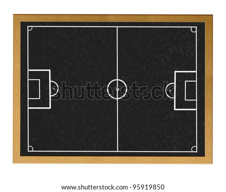 Blackboard with football field.