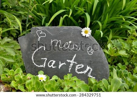 mein garten, blackboard german words mein garten my stock photo (royalty free, Design ideen