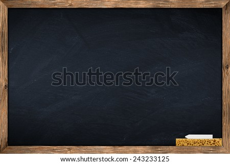 blackboard with wooden frame  - stock photo