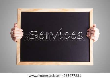 blackboard write Services - stock photo