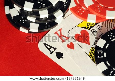 blackjack - stock photo