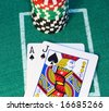 Blackjack Hand - stock photo