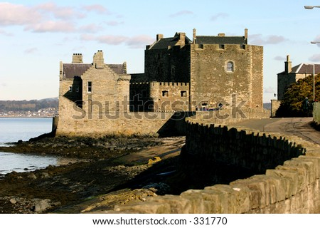 Blackness Castle on the shores of the River Forth Scotland - stock photo