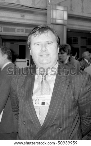BLACKPOOL, ENGLAND - OCTOBER 10: Eric Pickles, Conservative leader of Bradford Council & later Conservative Party Chairman, visits the party conference on October 10, 1989 in Blackpool, Lancashire.