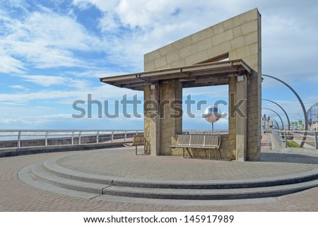 Blackpool Promenade - stock photo