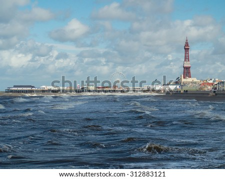 Blackpool tower and Central pier