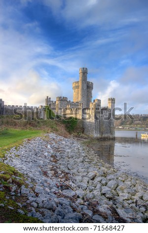 Blackrock Castle on the banks of the river. Cork city, Ireland. - stock photo