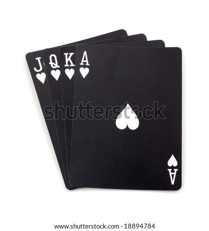 Blacks poker cards - stock photo