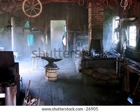 Blacksmith Shop - stock photo