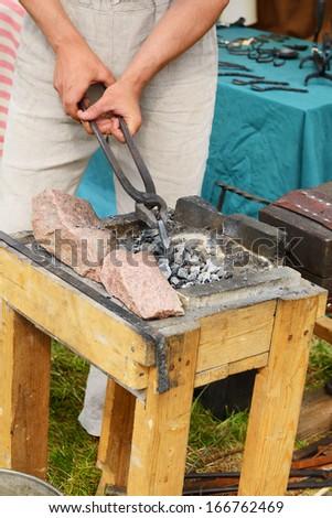 Blacksmith work - stock photo