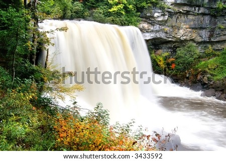 Blackwater Falls West Virginia In Autumn - stock photo