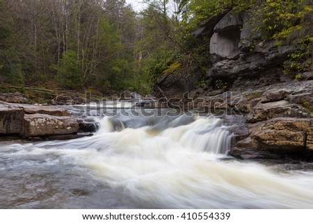 Blackwater River, West Virginia - stock photo