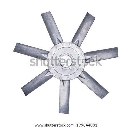 Blade of fan , isolate on white background.
