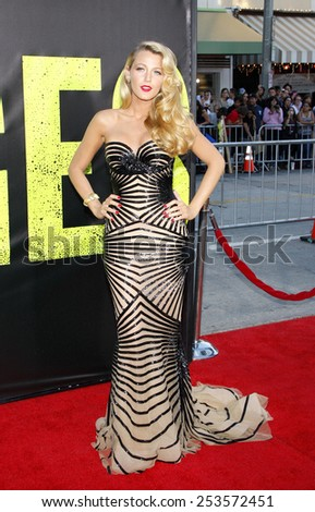 """Blake Lively at the Los Angeles premiere of """"Savages"""" held at the Mann Village Theater in Los Angeles, California, United States on June 25, 2012. - stock photo"""