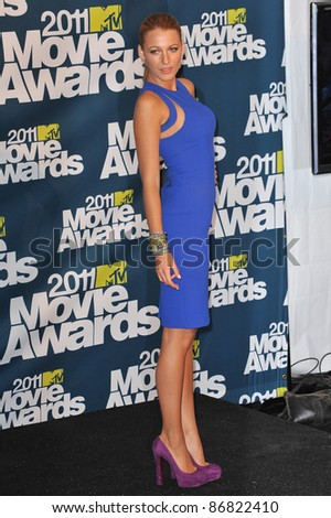 Blake Lively at the 2011 MTV Movie Awards at the Gibson Amphitheatre, Universal Studios, Hollywood. June 5, 2011  Los Angeles, CA Picture: Paul Smith / Featureflash - stock photo