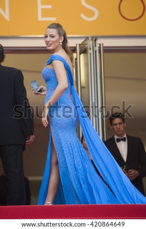 Blake Lively attends the BFG premiere, red carpet arrivals during The 69th Annual Cannes Film Festival on saturday 14 may at Palais du festival in France, Cannes - stock photo