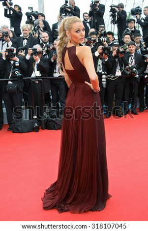 Blake Lively attends the Opening ceremony and the 'Grace of Monaco' Premiere during the 67th Annual Cannes Film Festival on May 14, 2014 in Cannes, France. - stock photo