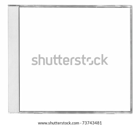 blanck cd cover isolated on white background - stock photo