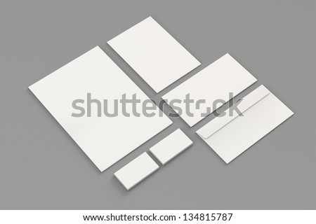 Blank a 4 paper business cards letterhead stock illustration blank a4 paper business cards letterhead envelopes stationary corporate identity template reheart Gallery