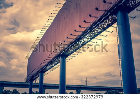 blank advertising billboard sign - frame outdoor commercial space marketing advertising publicity - stock photo