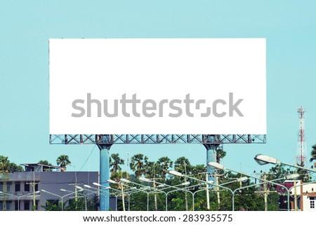 blank advertising billboard signpost - stock photo