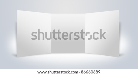 Blank advertising boards stand. interior Uneven diffuse lighting version. Design component (JPEG VERSION) - stock photo
