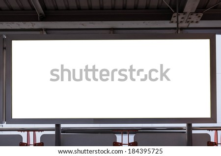 blank advertising indoor billboard in train station - stock photo