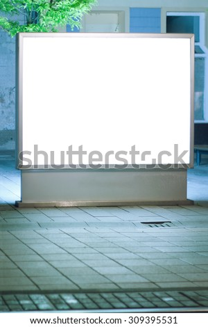 Blank advertising panel in the street - stock photo