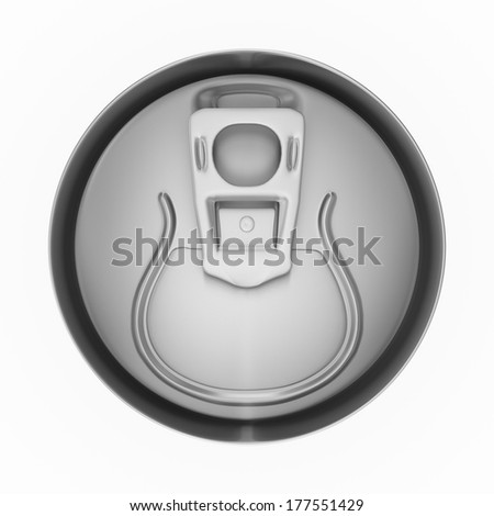 Blank aluminum soda or beer can. Isolated on white background with shadow