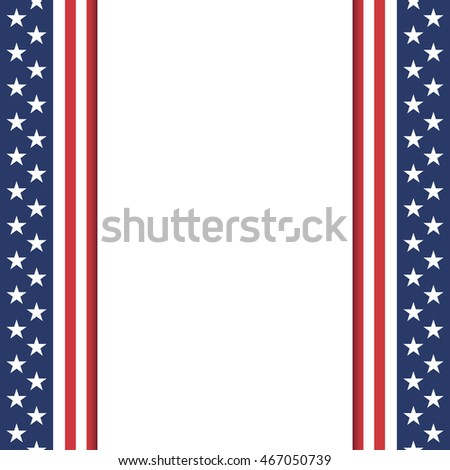 Blank American background. Poster or brochure template.