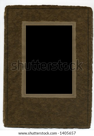 Blank antique paper picture frame.