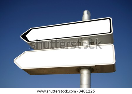 blank arrows directions - stock photo