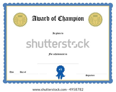 Blank Award Certificate Form Illustration 4958782 Shutterstock – Blank Certificate Forms