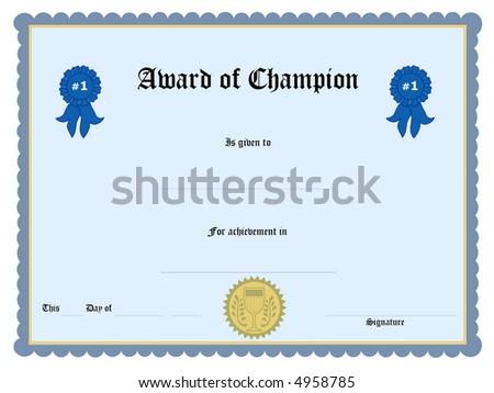 Blank Award Certificate Form Illustration 4958815 Shutterstock – Blank Certificate Forms