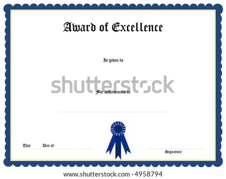Blank Award Certificate Form Illustration 4958797 Shutterstock – Blank Certificate Format