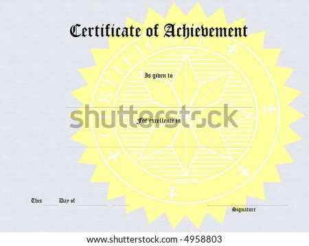 Blank Award Certificate Form Stock Illustration 4958803 - Shutterstock
