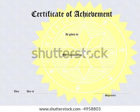 Blank award certificate form - stock photo