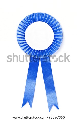 Blank award ribbon - stock photo