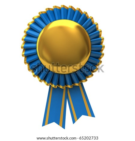 Blank award ribbon rosette - stock photo