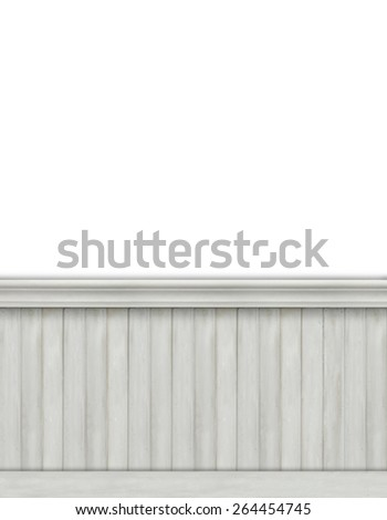 Blank backdrop with bead board for advertising - stock photo