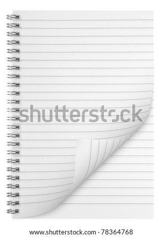 blank background. paper spiral notebook isolated on whit - stock photo