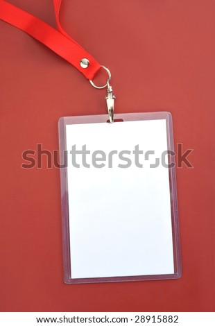Blank backstage pass to put your own text on - stock photo
